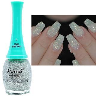Sơn móng tay siêu sang chảnh Aroma Nails Lacquer Cao cấp Hàn Quốc No.53 (Lấp lánh bạc) 12ml thumbnail