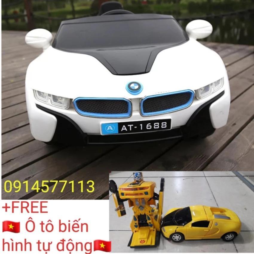 Xe ô tô điện trẻ em AT-1818 (có màn hình cảm ứng) +(Tặng ô tô biến hình tự động)