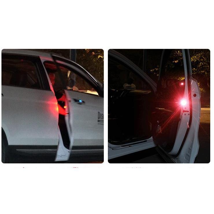 Bộ 4 đèn LED đỏ cảnh báo an toàn cho bạn và người đi đường khi mở cửa xe ô tô, xe hơi, xe tải, container