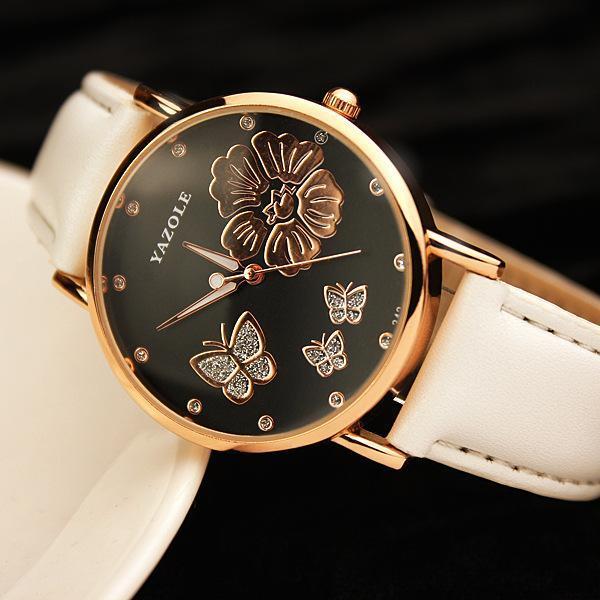 (Hot) Đồng hồ nữ YaZoLe 343 Dây Da Thời Trang - DH0809 bán chạy