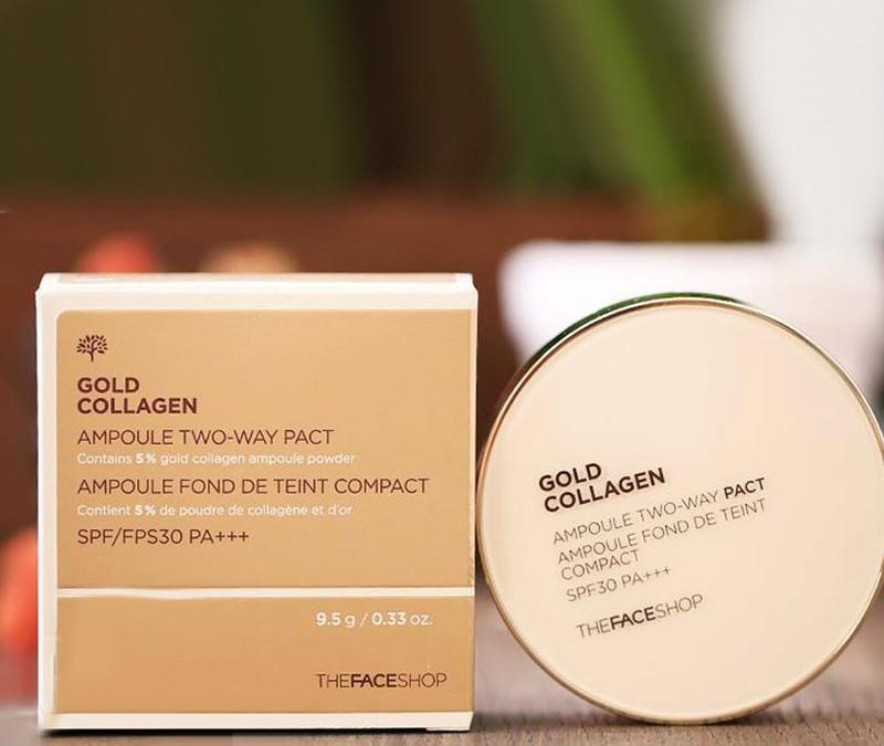 Phấn nước Gold Collagen của The Face Shop SPF 30+ PA+++ Hàn Quốc
