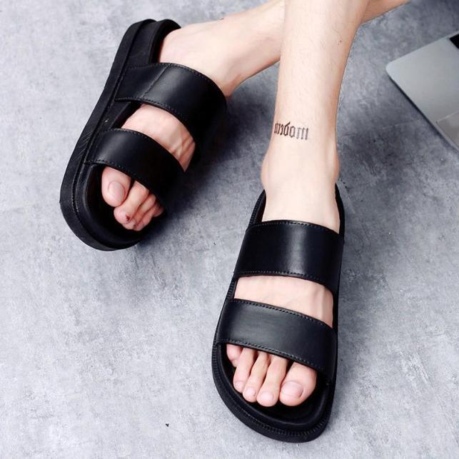 Dép quai ngang sandal nữ đế bằng 2 quai cá tính thời trang đế dày siêu mềm chống trơn trượt - DG2, dep quai nu giá rẻ