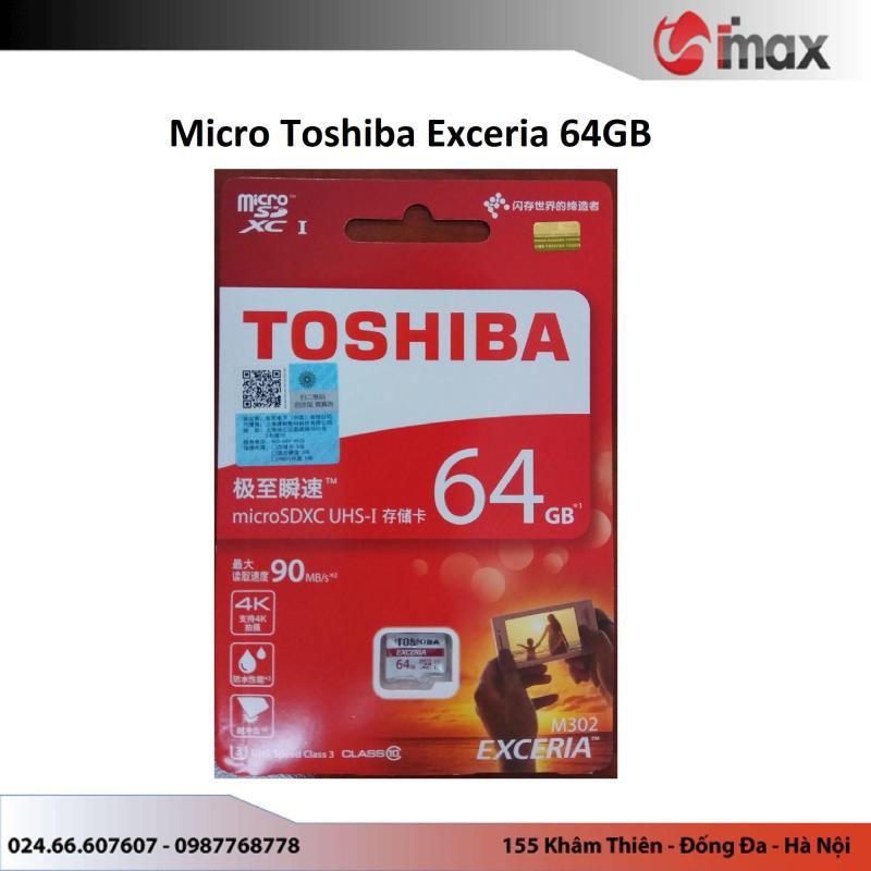 Thẻ nhớ Micro SDXC Toshiba Exceria 64GB (90Mb/s)