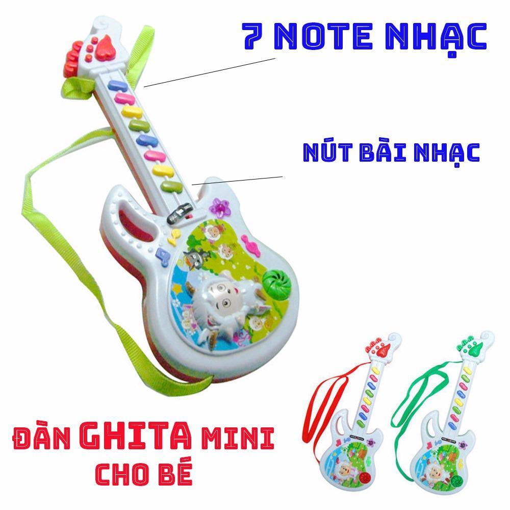 Hình ảnh Đàn Ghita Đồ Chơi Cho Bé Có Nhạc, Bài Hát Vui Nhộn (Có Dây Đeo)