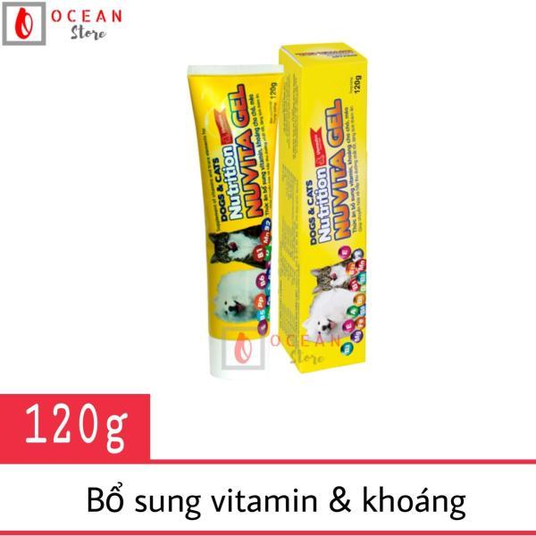 Thức ăn bổ sung vitamin, khoáng cho chó, mèo - Nuvita Gel 120g