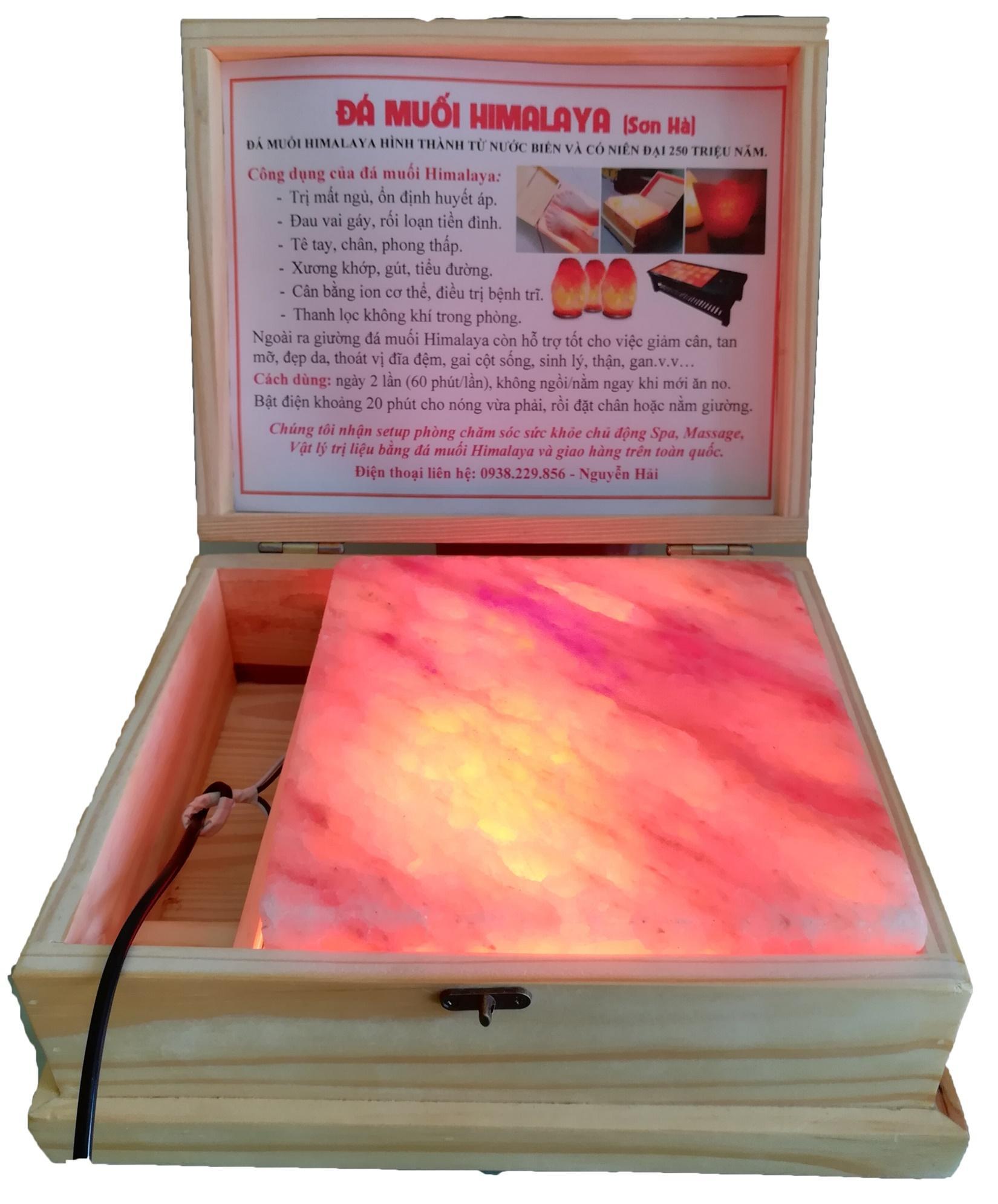 Hộp Đèn Đá Muối Himalaya Pakistan Massage Chân Chữa Bệnh - Đơn - Phẳng tốt nhất