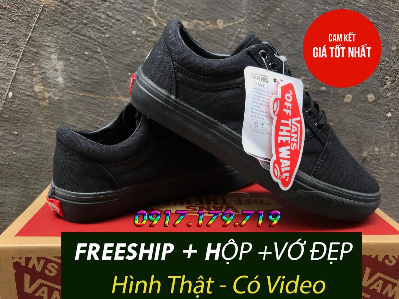 Hình ảnh [MIỄN PHÍ SHIP + VỚ + HỘP] Giay Van Old Skool Full Black Hàng S.F