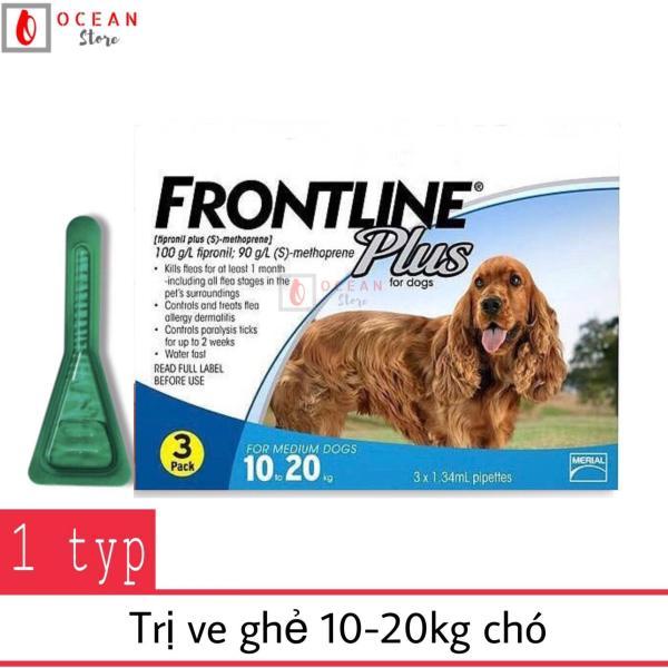 Thuốc nhỏ gáy trị ve ghẻ, bọ chét cho chó - 1 ống Frontline Plus chó 10-20kg (1 tube 10-20kg)