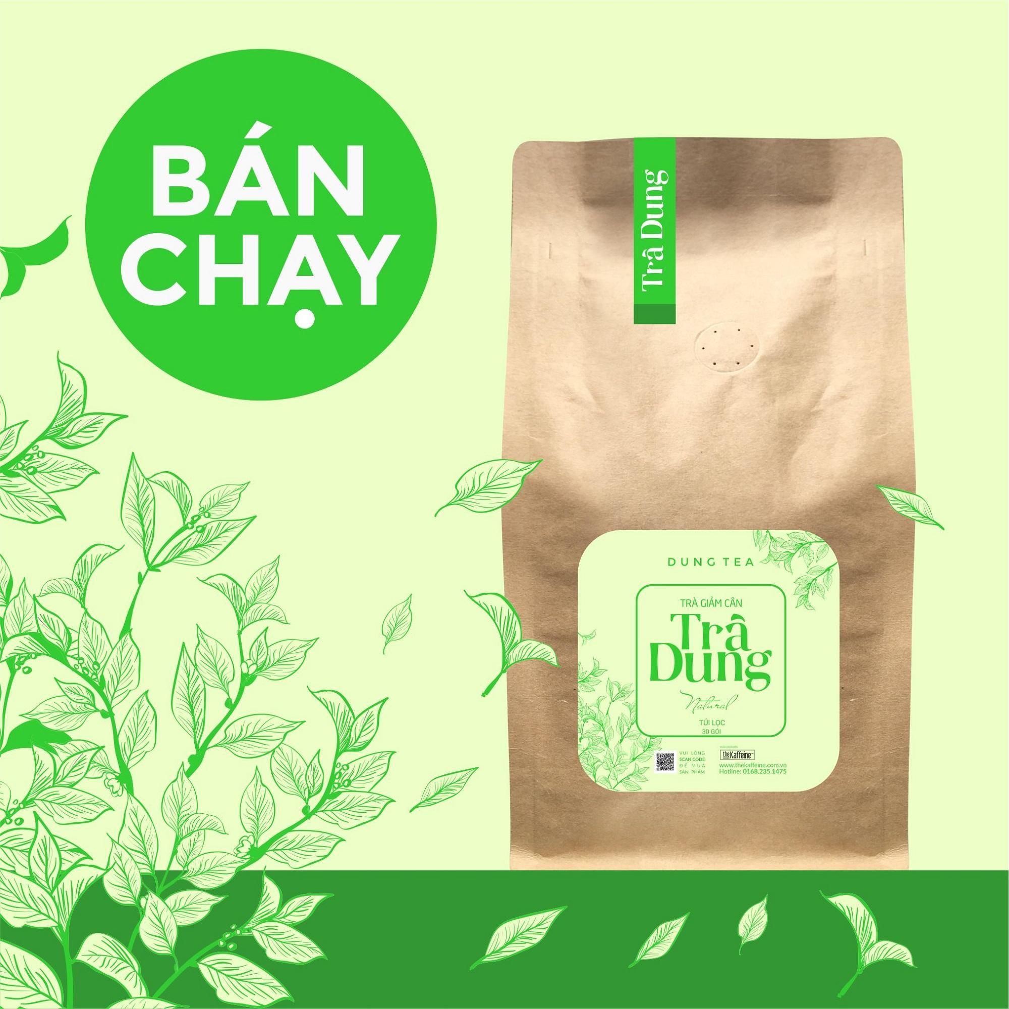 Trà dung Giảm cân Túi Lọc 30 túi - 250g - The Kaffeine nhập khẩu