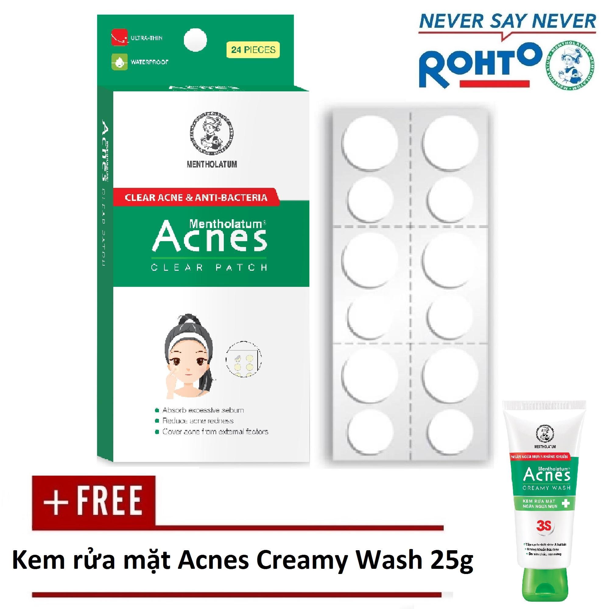Hình ảnh Miếng dán mụn Acnes Clear Patch (24 miếng) + Tặng Kem rửa mặt Acnes Creamy Wash 25g