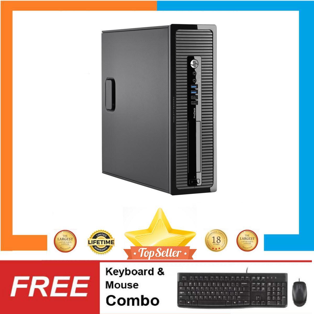 Máy tính để bànHP ProDesk 400 G1 SFF Nguyên Bản, Chạy CPU Core i5 4570, Ram 4GB, HDD 500GB + Bộ Quà Tặng