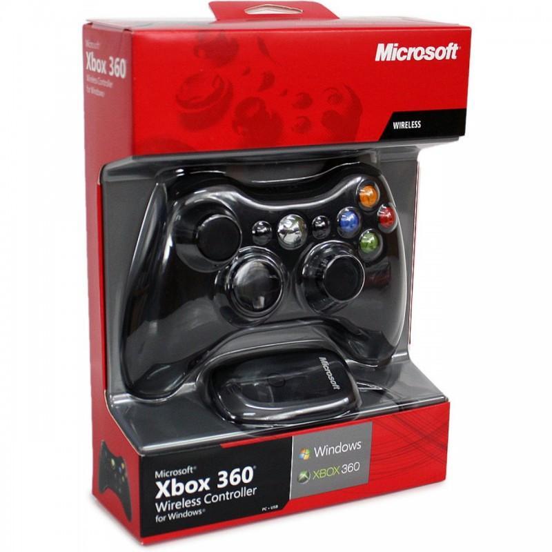 Hình ảnh Tay cầm chơi game Xbox 360 có giây (Đen) - Siêu giảm giá trong 2 ngày