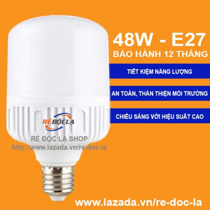 Bóng đèn Led Bulb Trụ Công Suất 48W Trắng- LED SHOP