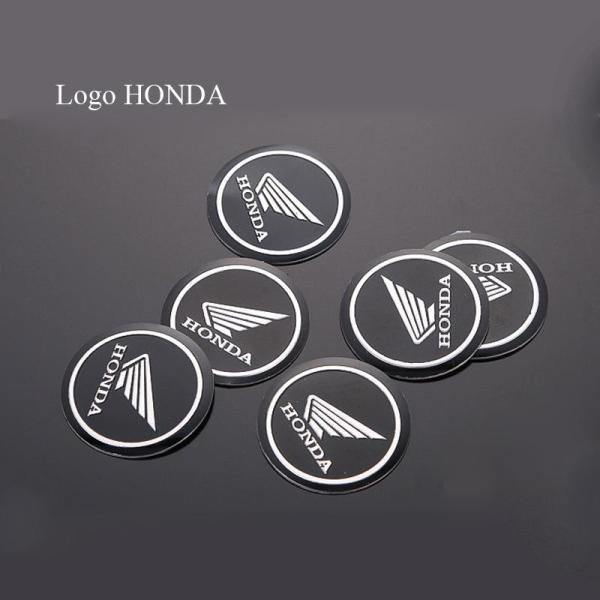 Bộ 2 Logo Tròn Honda nhôm Dán keo 3M