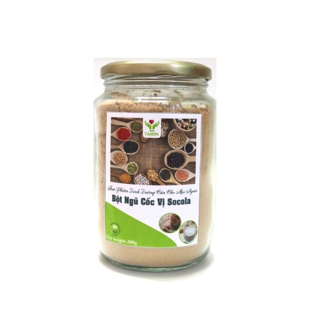 Hình ảnh Bột Đậu nguyên chất vị Socola ( 5 loại đậu + bột cacao) Tăng Cân dành cho người tập gym TAMIN 300gram