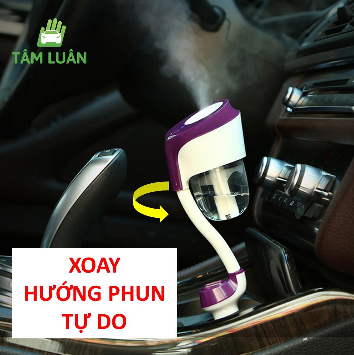 Máy phun sương tạo độ ẩm khuyếch tán xông tinh dầu xe hơi ô tô oto Nanum Car II chính hãng