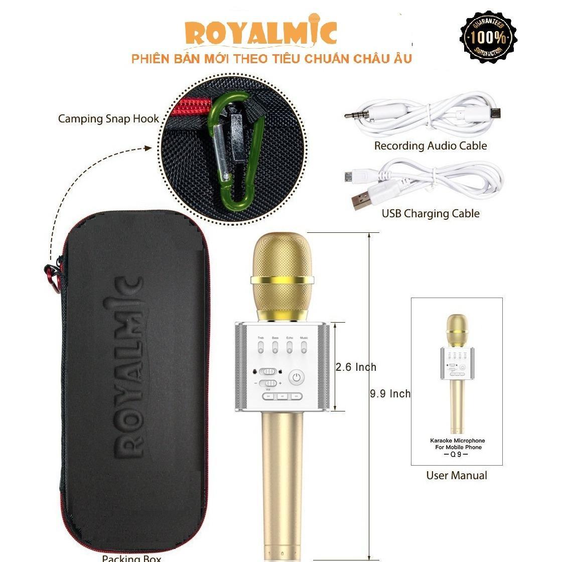 Microphone Karaoke Q9 Hang Nhập Khẩu Cung Cấp Bởi Royalmic Royalmic Chiết Khấu