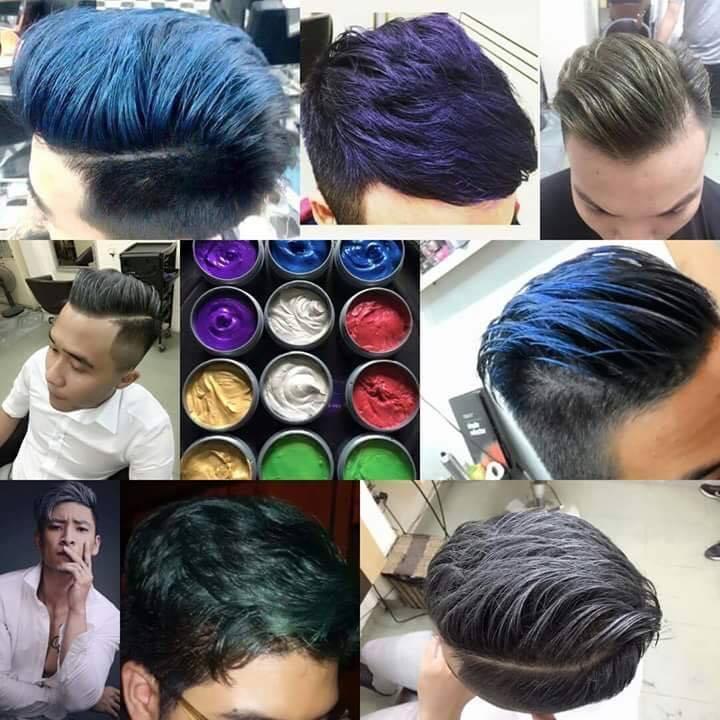Hình ảnh Sáp vuốt tóc - Sáp Nhuộm Tóc Đổi Màu Tạm Thời ( Màu Đỏ,Xanh Biển,Vàng,Tím )