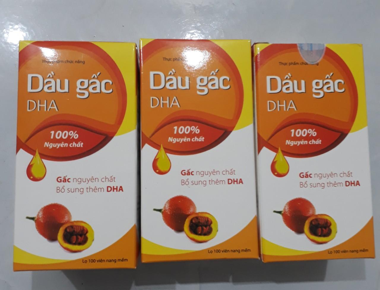 Combo 3 chai dầu gấc DHA - Công ty isophaco - Chai 100 viên