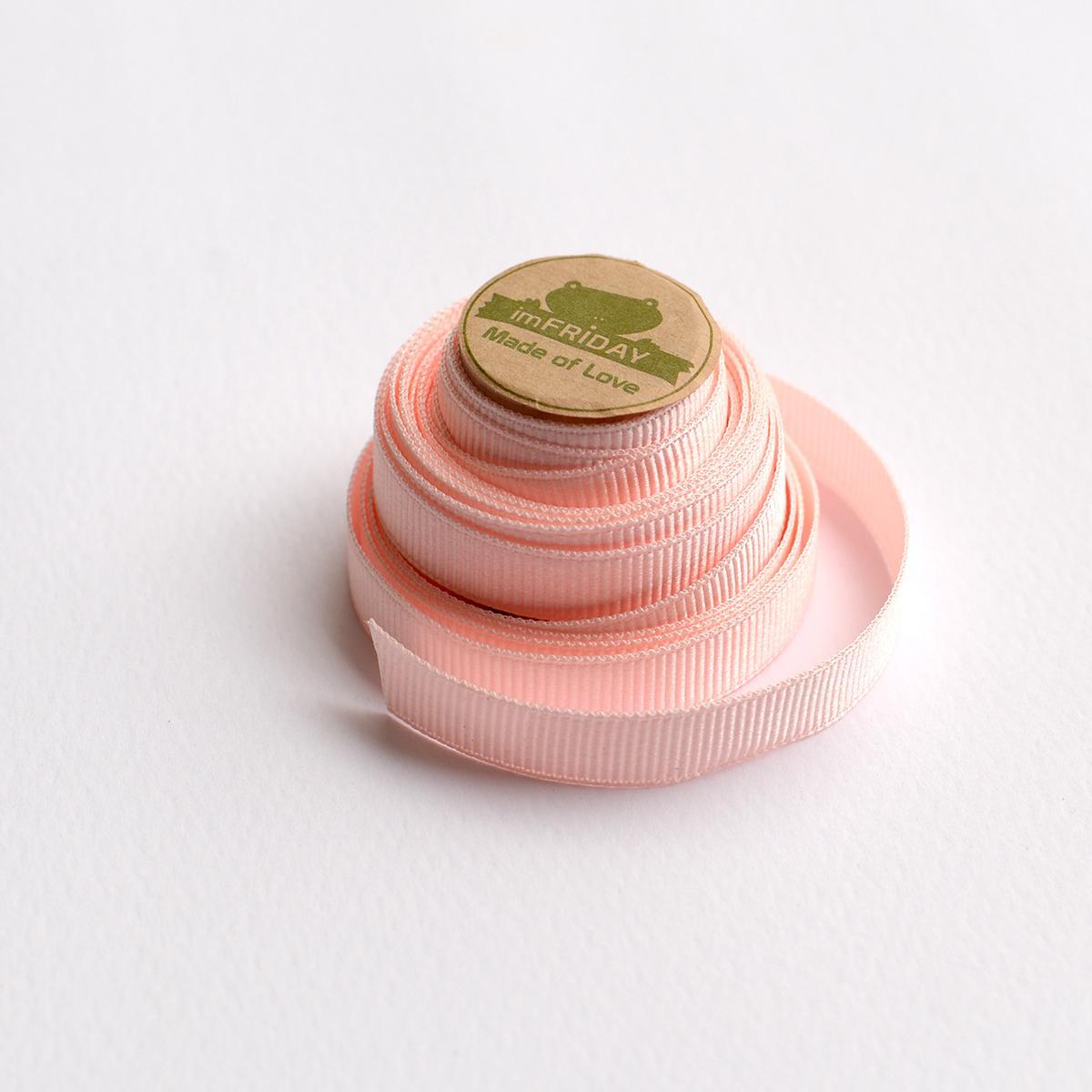 Hình ảnh 3m ruy băng gân 1cm hồng nhạt RB14