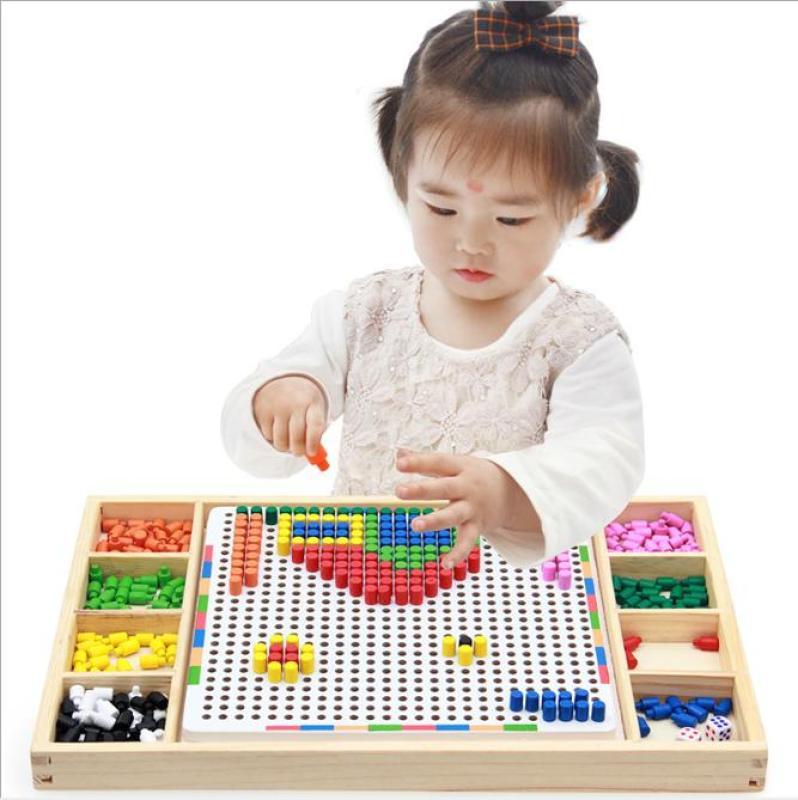 Đồ chơi lắp ráp hình nấm, Bộ đồ chơi xếp hình thông minh cho trẻ em bằng gỗ giúp trẻ thoả sức sáng tạo và tuyệt đối an toàn.