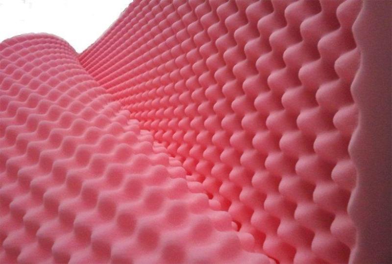 set 4 tấm mút xốp tiêu âm hình trứng kt 80cm x 1m dày 4cm