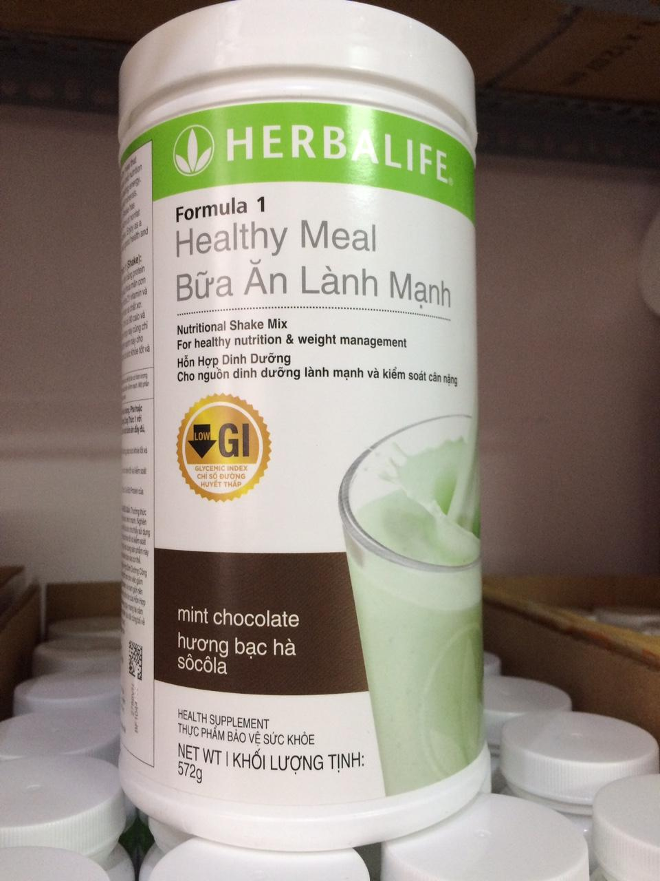 Hình ảnh Hỗn hợp dinh dưỡng công thức 1 Herbalife - Hương bạc hà (Sữa Herbalife F1)