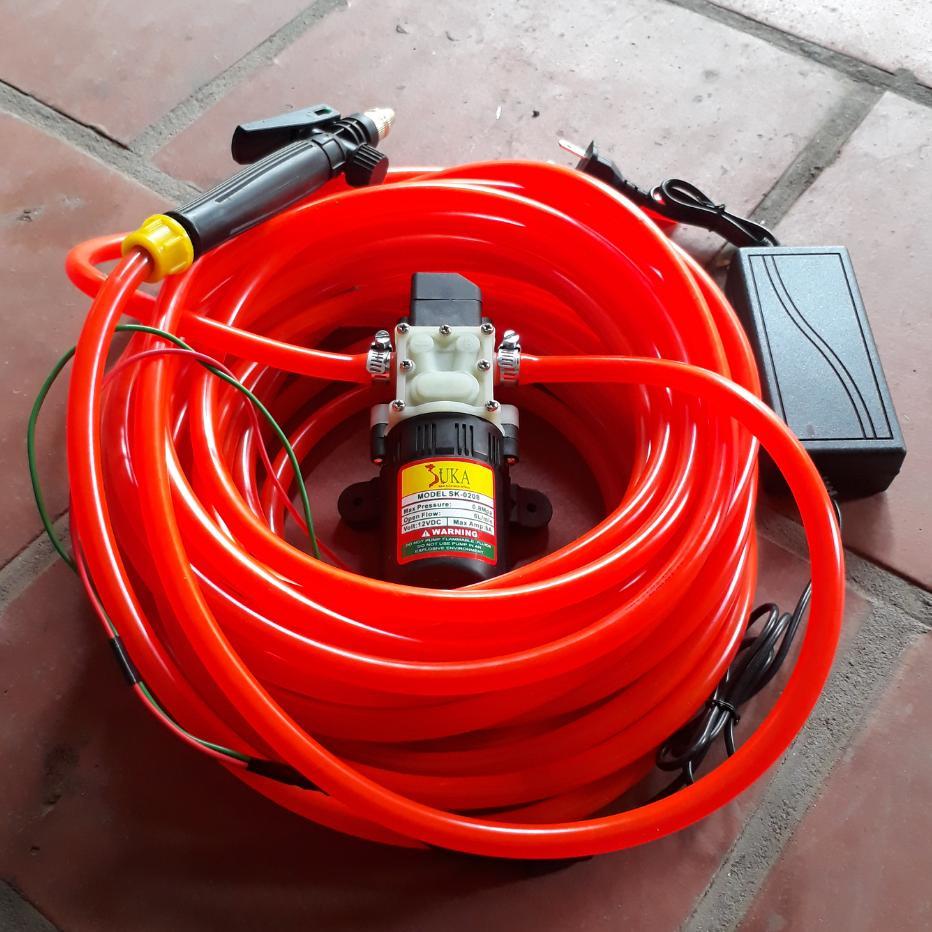 Hình ảnh Máy rửa xe mini 11m dây - máy bơm nước mini 12v - rửa xe đa năng