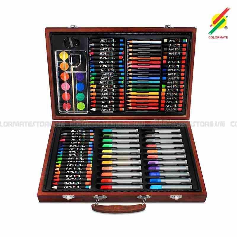 Bộ Màu Vẽ Hộp Gỗ MS-110W Giá Rẻ Bất Ngờ