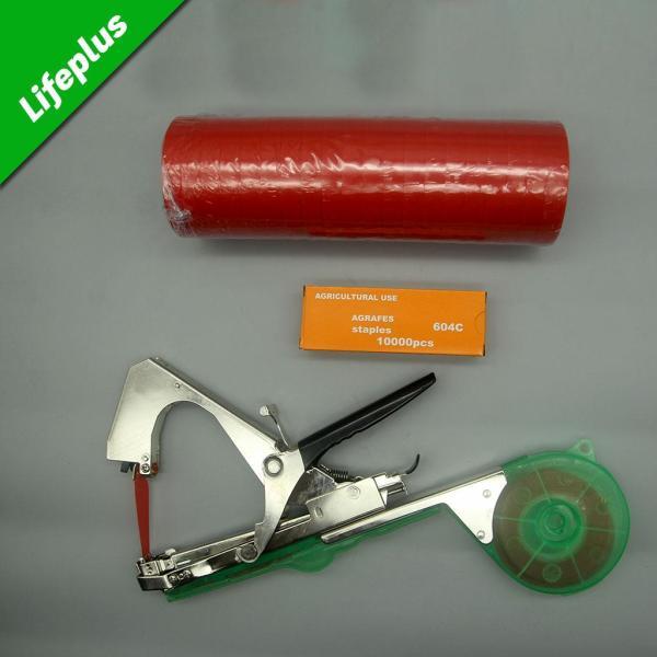 Bộ dụng cụ buộc cành gồm máy buộc cành + cọc 20 cuộn băng keo + hộp 10.000 ghim