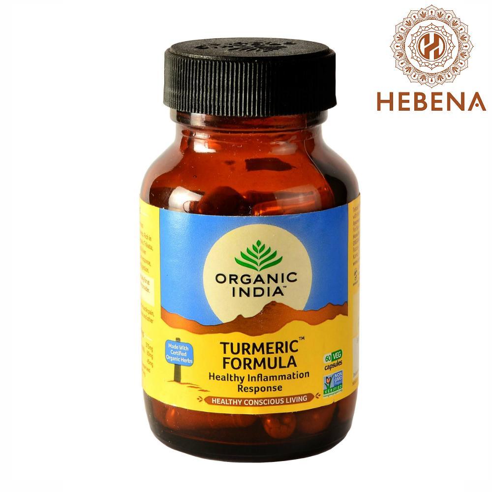 Viên uống tinh nghệ Organic India Turmeric Formula - hebenastore chính hãng