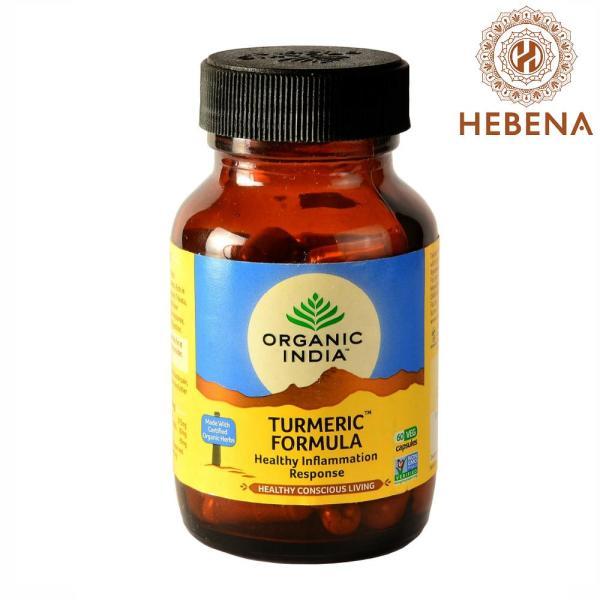 Viên uống tinh nghệ Organic India Turmeric Formula 60 viên - hebenastore