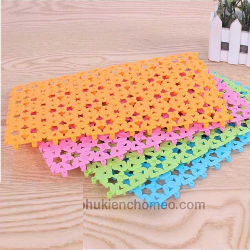 HCM-Lót sàn chuồng chống lọt chân- Tấm ghép nhựa ( 4711611) mỗi miếng dài 30cm, rộng 20cm lót chuồng, sàn chó mèo-HP10832TC
