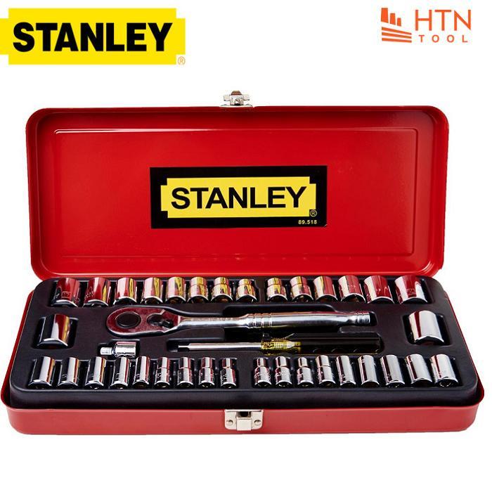 1/4 và 3/8 Bộ tuýp 37 chi tiết Stanley 89-518-1