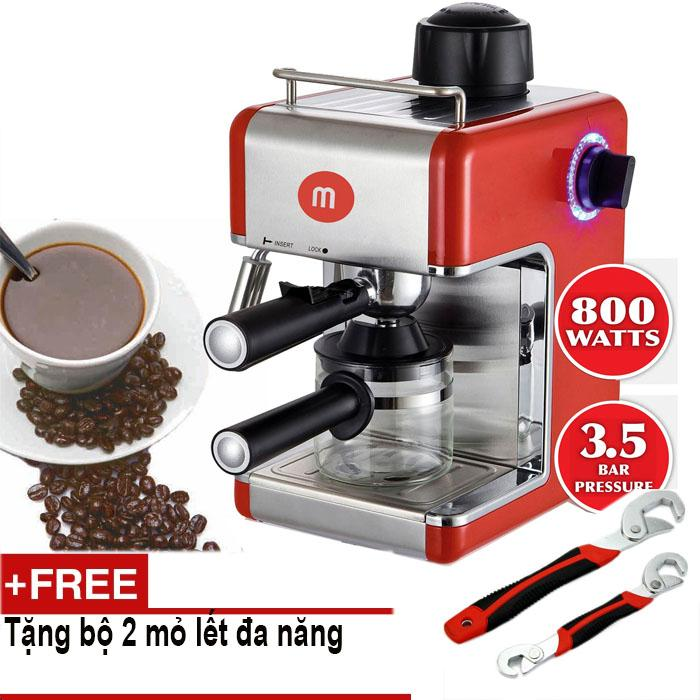 Máy pha cafe capuchino Mishio MK05 + Tặng bộ 2 mỏ lết đa năng