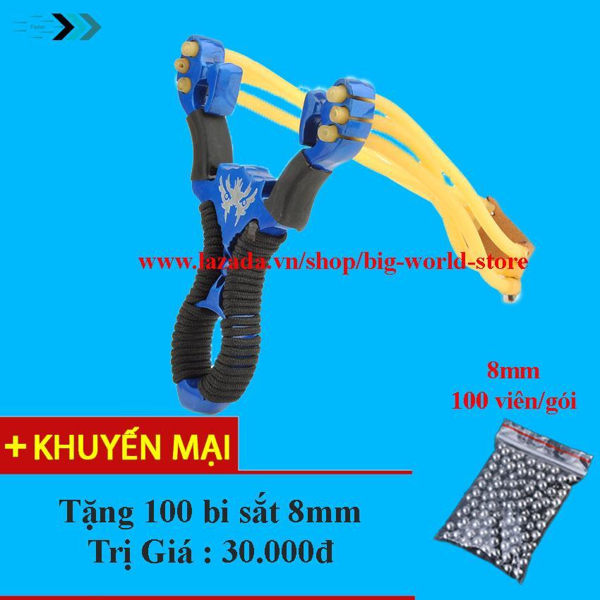 Hình ảnh Sung ,Na Thun Cao Su Kim Loai (Xanh) + Tặng 100 viên Bi Sắt 8mm