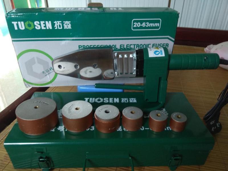 Máy hàn ống nhiệt TUOSEN loại 20-63mm công xuất 900W, bảo hành 1 năm