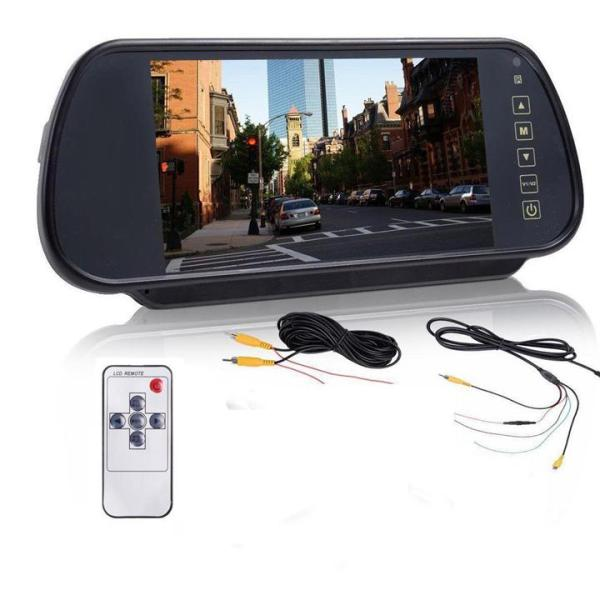Màn Hình LCD Ốp Gương Ô Tô HD 7 Inch