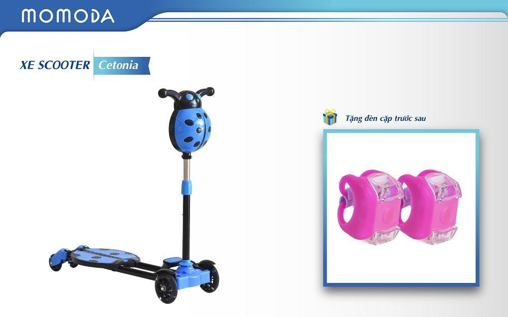 Xe Scooter Cetonia + TẶNG ĐÈN TRƯỚC SAU