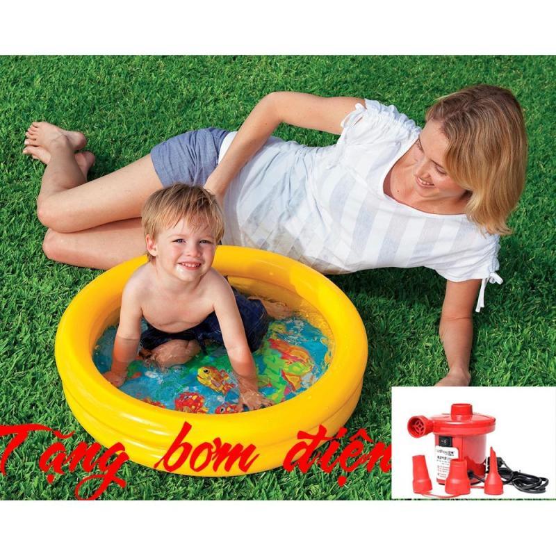 Intex 59409 Bể bơi cho trẻ em Việt Hiếu KT 61x15 cm + Bơm điện