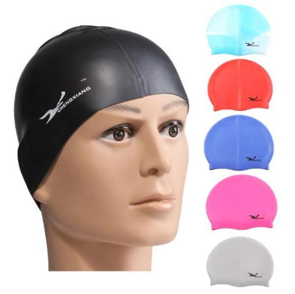 Nón Bơi Mũ Bơi Trùm Tai Ngăn Nước Chất Liệu 100% Silicone Cao Cấp