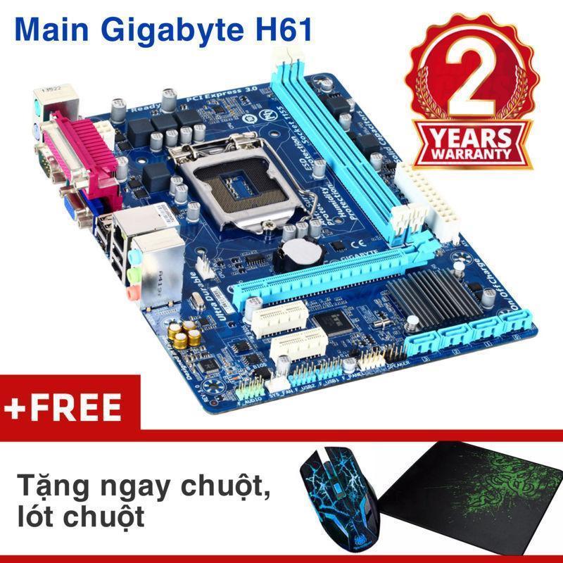 Hình ảnh Bảng mạch chính Gigabyte H61M-DS2 Nhập khẩu - Khuyến mại chuột wifi