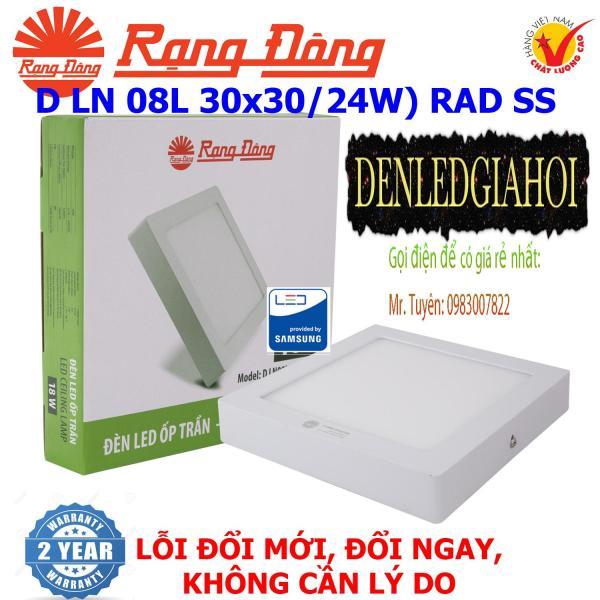 Đèn LED ốp trần cảm biến 24W Rạng Đông(D LN 08L 30x30/24w) RAD SS
