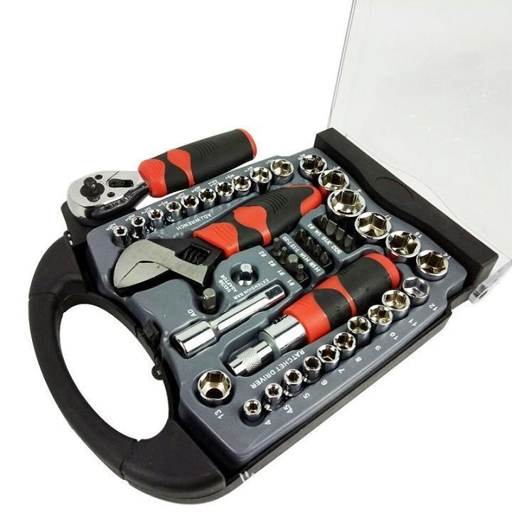 Bộ dụng cụ đa năng tô vít, vặn khẩu, mỏ lết đa năng 45 chi tiết