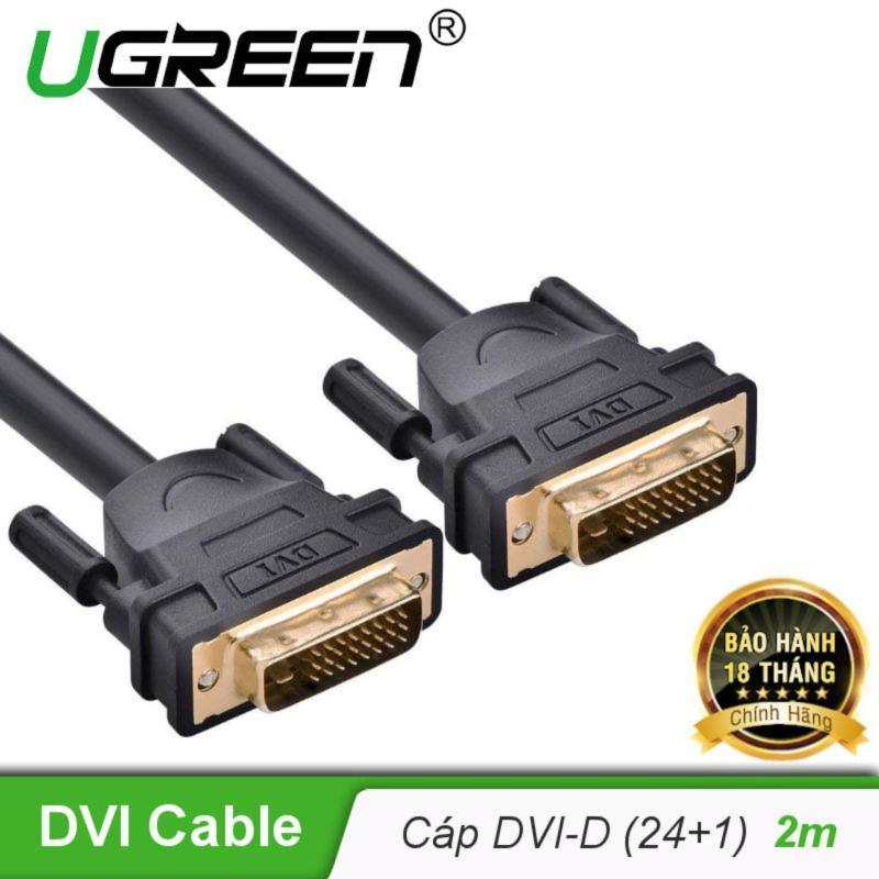 Bảng giá Cáp tín hiệu DVI-D (24+1) 2 đầu đực dài 2m UGREEN DV101 11604 - Hãng phân phối chính thức Phong Vũ