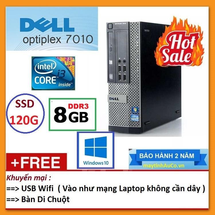 Thùng Dell Optiplex 7010 ( Core I3 2100 / 8G / SSD 120G ), Tặng USB Wifi , Bàn Di Chuột - Bảo Hành 24 Tháng - Hàng Nhập Khẩu Giá Hot Siêu Giảm tại Lazada
