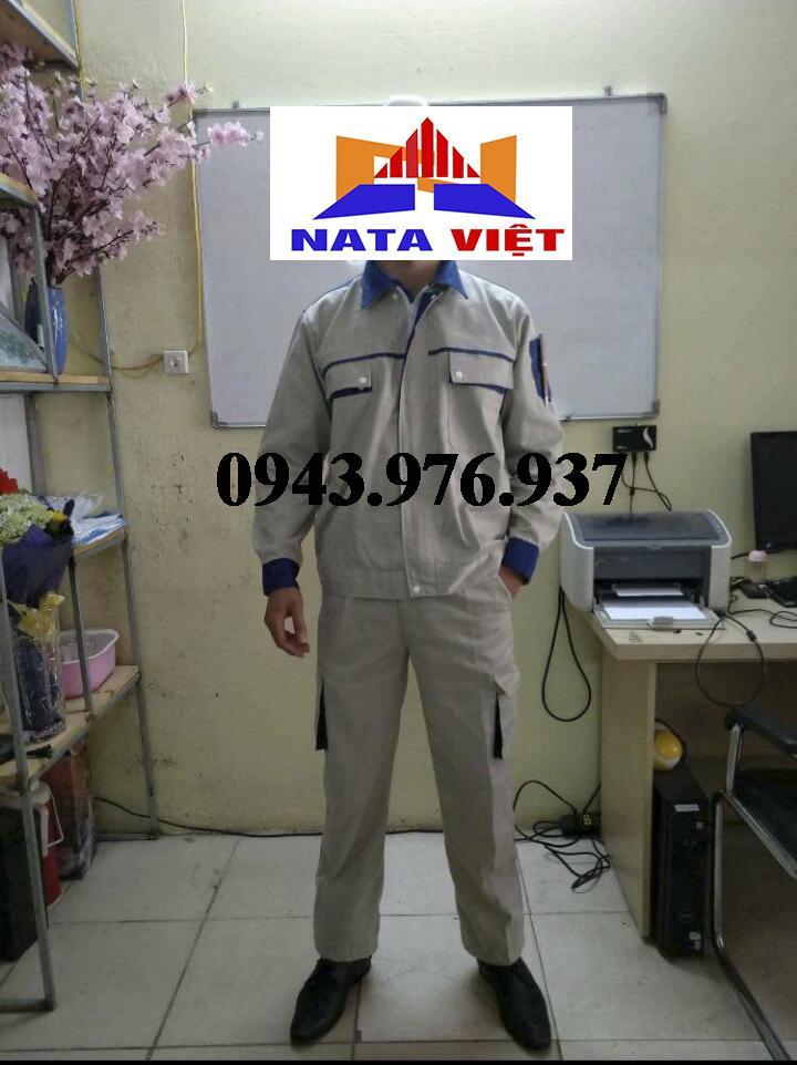 quần áo bảo hộ phối xanh size 5