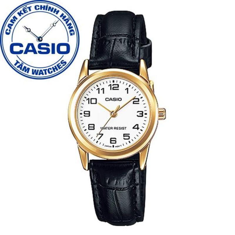 Đồng hồ nữ dây da Casio Standard Anh Khuê LTP-V001GL-7BUDF