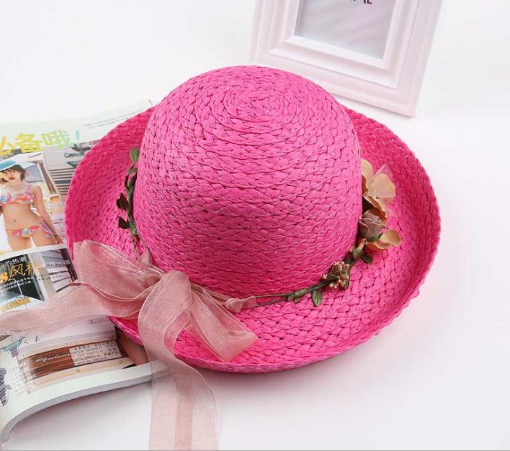 Hình ảnh Mũ (nón) đi chơi cho bé gái M16 (Hồng đậm)