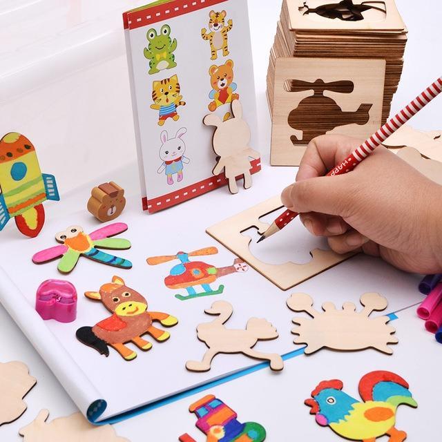 Hình ảnh Bộ dụng cụ tập vẽ và tô màu cho bé